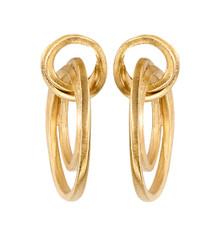 Joidart Lorna Large Post Gold Earrings