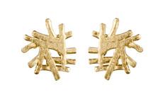 Joidart Figura Small Post Gold Earrings