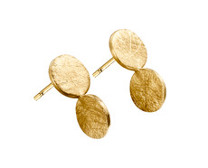 Joidart Arai Small Double Disk Gold Earrings