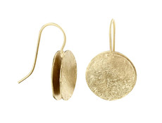 Joidart Freda Large Wire Gold Earrings