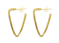 Joidart Daily Gold Plated Triangle Hoop Earrings