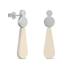 Joidart Lacrima Small Teardrop Silver Earrings