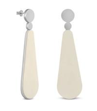 Joidart Lacrima Large Teardrop Silver Earrings