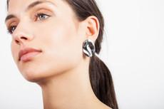 Joidart Sinousa Large Post Silver Earrings