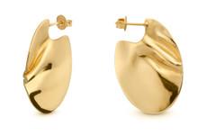 Joidart Sinousa Small Hoop Gold Earrings