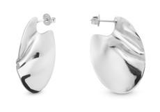 Joidart Sinousa Small Hoop Silver Earrings