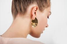 Joidart Sinousa Large Hoop Gold Earrings