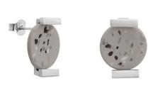 Joidart Terrazzo Stud Earrings Grey Silver