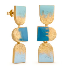 Joidart Moitie Aribau 3 Piece Gold Earrings