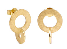 Joidart Cercles Stud Gold Earrings