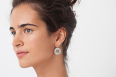 Joidart Cercles Small Hoop Silver Earrings