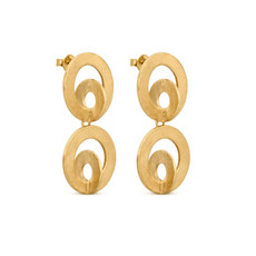 Joidart Cercles Double Gold Earrings