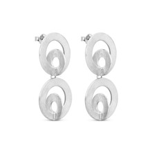Joidart Cercles Double Silver Earrings