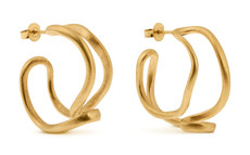 Joidart Tramuntana Small Hoop Gold Earrings