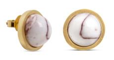 Joidart Anais Stud Brown Gold Earrings