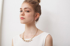 Joidart Anais Wire Brown Gold Earrings