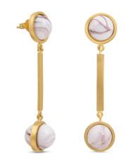 Joidart Anais Long Brown Gold Earrings