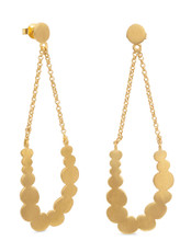 Joidart Pebbles Long Gold Earrings