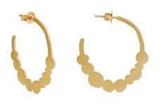 Joidart Pebbles Hoop Gold Earrings