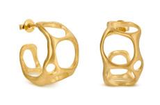 Joidart Forge Double Hoop Gold Earrings