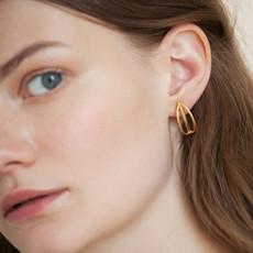 Joidart Luna Small Stud Gold Earrings