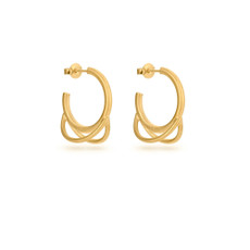 Joidart Luna Small Hoop Gold Earrings