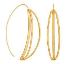 Joidart Luna Large Wire Gold Earrings