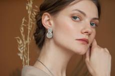 Joidart Soleil Large Double Silver Earrings