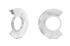 Joidart Minoica Large Stud Silver Earrings