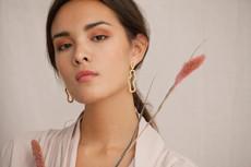 Joidart Meandres Large Drop Stud Gold Earrings