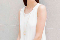 Joidart Embolic Long Necklace with Chain Gold
