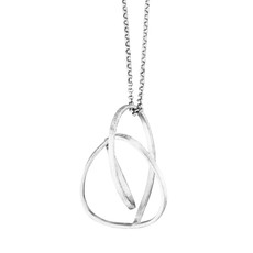 Joidart Embolic Large Necklace with Chain Silver