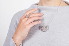 Joidart Terrazzo Large Pendant Grey Silver