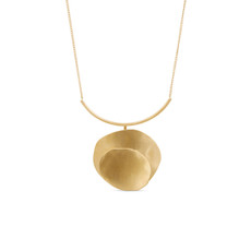 Joidart Magnolia Bar Gold Necklace