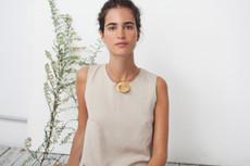 Joidart Magnolia Bar Gold Necklace