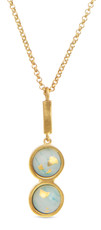 Joidart Anais Double Pendant Green Gold