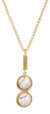 Joidart Anais Double Pendant Brown Gold