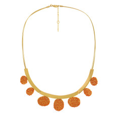 Joidart Estiu Large Necklace Red Gold