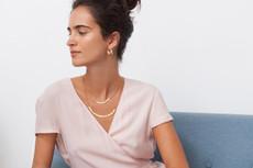 Joidart Pebbles Double Gold Necklace