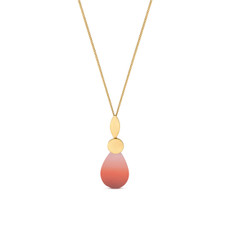 Joidart Captard Long Gold Pendant Red