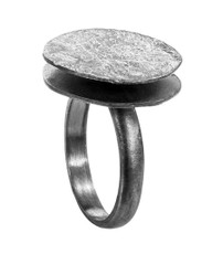 Joidart Freda Small Ring Blackened Silver