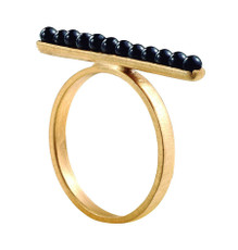Joidart Inspirada Small Gold Ring Black