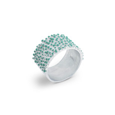 Joidart Estiu Ring Blue Silver