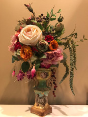 Michal Negrin Botanic Garden Roses Porcelain Vase Decor