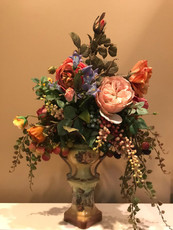 Michal Negrin Botanic Garden Blooms Roses Porcelain Vase Decor