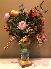 Michal Negrin Botanic Garden Elegance Roses Porcelain Vase Decor