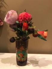 Michal Negrin La Fleur Black Porcelain Vase