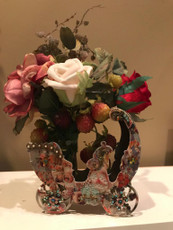 Michal Negrin La Fleur Swarovski Crystals Wagon Vase