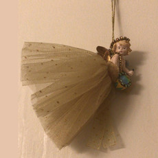Michal Negrin Swarovski Crystals Hanging Angel