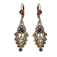 Michal Negrin Castle Opal Brown French Wire Earrings